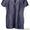 Продается женская летняя туника из тонкого льна темно-синего цвета #1230155